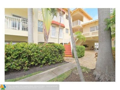 Fort Lauderdale Condo/Townhouse For Sale: 341 N Birch Rd #306