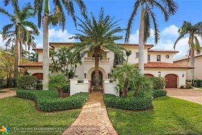 Lighthouse Point Single Family Home For Sale: 2430 NE 33rd St