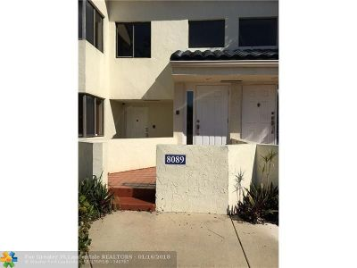 Plantation Condo/Townhouse For Sale: 8089 NW 15 Mnr #8089