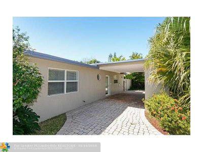 Fort Lauderdale Single Family Home For Sale: 2024 NE 15th St