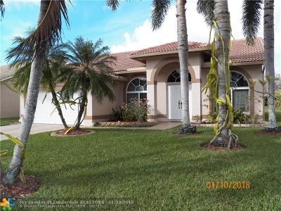 Coral Springs Single Family Home For Sale: 12325 SW 1st St