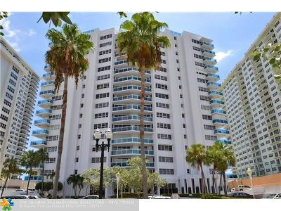 Fort Lauderdale Condo/Townhouse For Sale: 3430 Galt Ocean Dr #1601
