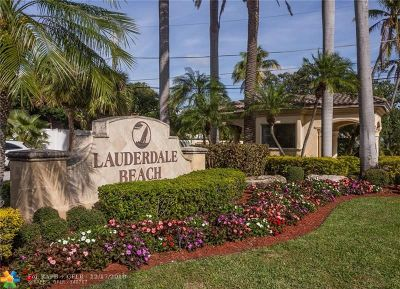 Fort Lauderdale Condo/Townhouse For Sale: 2701 N Ocean Blvd #8B