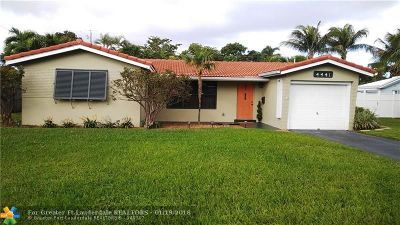 Oakland Park Single Family Home For Sale: 4441 NE 15th Way