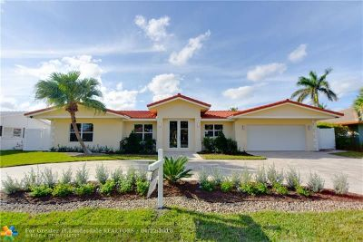 Lighthouse Point Single Family Home For Sale: 3911 NE 24th Ave