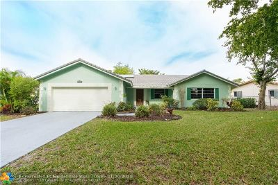 Coral Springs Single Family Home For Sale: 11873 NW 24th St