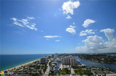 Fort Lauderdale Condo/Townhouse For Sale: 100 S Birch Rd #2501