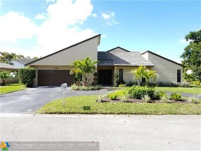 Coral Springs Single Family Home For Sale: 2480 NW 115th Ave