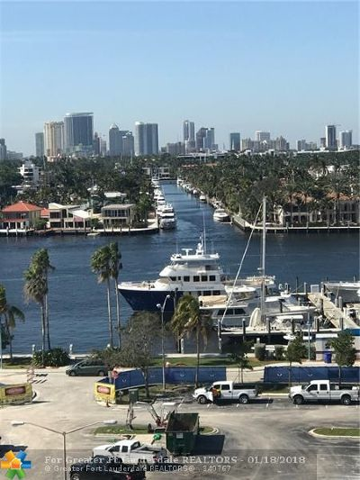 Fort Lauderdale Condo/Townhouse For Sale: 200 S Birch Rd #901