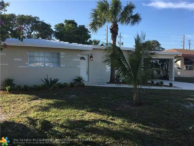 Fort Lauderdale Single Family Home For Sale: 1261 NW 30th Ter