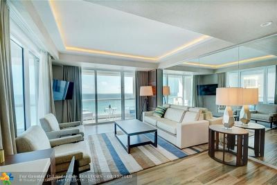Fort Lauderdale Condo/Townhouse For Sale: 551 N Fort Lauderdale Beach Blvd #1017