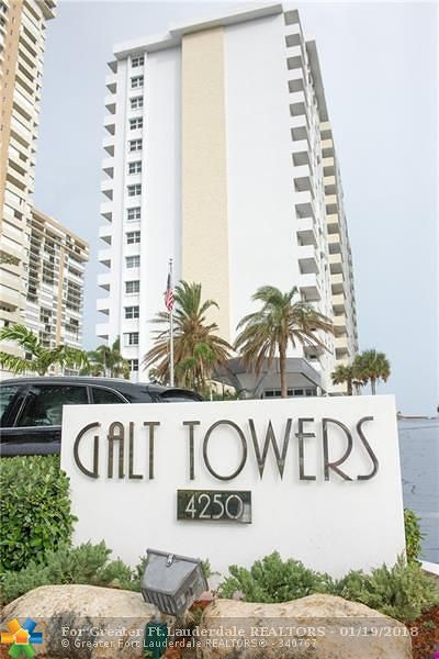 Condo/Townhouse For Sale: 4250 Galt Ocean Dr #7T