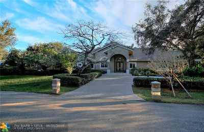 Davie Single Family Home For Sale: 12850 SW 33rd Dr