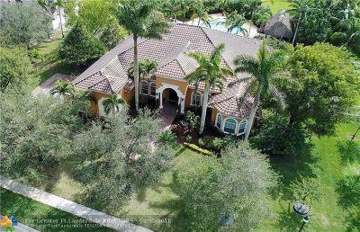 Davie Single Family Home For Sale: 12720 Trotter Blvd
