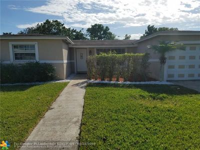 Margate Single Family Home For Sale: 6960 NW 7 Ct