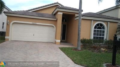 Coral Springs Single Family Home For Sale: 11651 NW 13th Mnr
