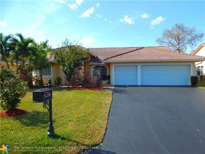 Coral Springs Rental For Rent: 5236 NW 96th Dr