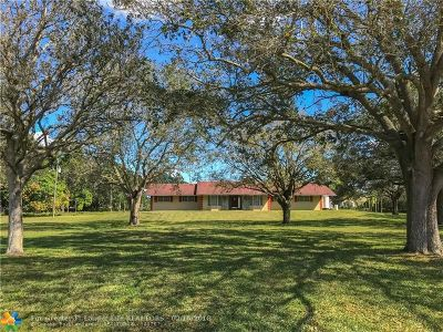 Southwest Ranches Single Family Home For Sale: 5300 Hancock Rd
