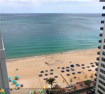 Fort Lauderdale Condo/Townhouse For Sale: 3750 Galt Ocean Dr #1604