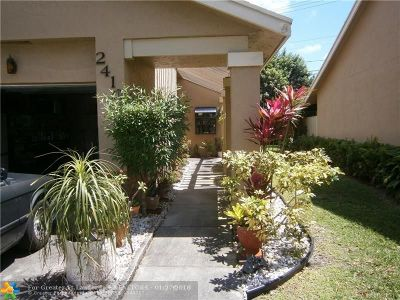 Coconut Creek Single Family Home For Sale: 2410 Ginger Ave
