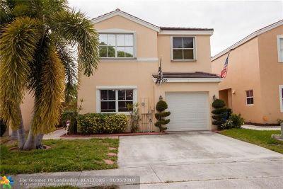 Margate Single Family Home For Sale: 3420 Orinoco Ln