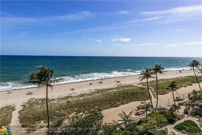 Lauderdale By The Sea Condo/Townhouse For Sale: 5100 N Ocean Blvd #710