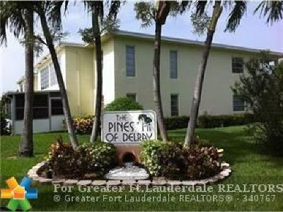 Delray Beach Condo/Townhouse For Sale: 2520 Black Olive Blvd #104