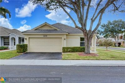 Davie Single Family Home For Sale: 2649 Arrowwood Ct