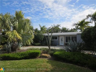 Oakland Park Single Family Home For Sale: 1556 NE 37th St