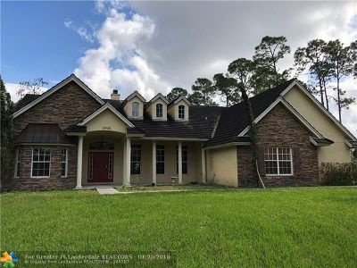 Loxahatchee Single Family Home For Sale: 2976 Fawn Drive
