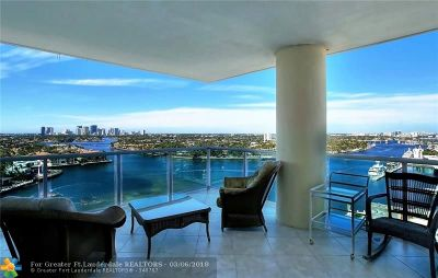 Broward County Condo/Townhouse For Sale: 3055 Harbor Dr #1501