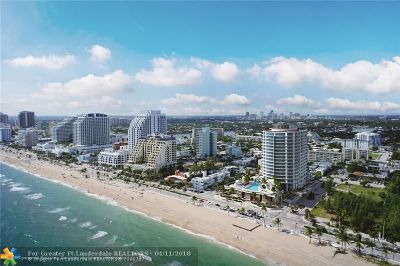 Fort Lauderdale Condo/Townhouse For Sale: 701 N Fort Lauderdale Beach #1504