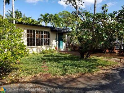 Oakland Park Single Family Home For Sale: 1399 NE 38th St