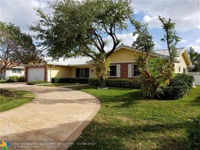 Lighthouse Point Single Family Home For Sale: 4430 NE 30th Ter