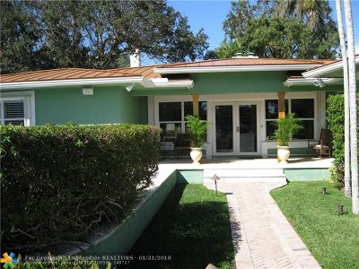 Fort Lauderdale Single Family Home For Sale: 805 Cordova Rd