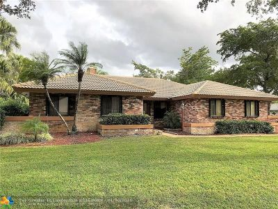 Coral Springs Single Family Home Backup Contract-Call LA: 5051 NW 88th Ln