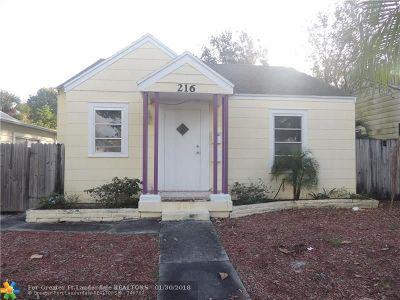Lake Worth Single Family Home Backup Contract-Call LA: 216 S K St