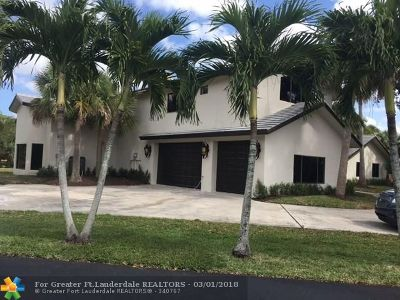 Coral Springs FL Single Family Home For Sale: $759,000