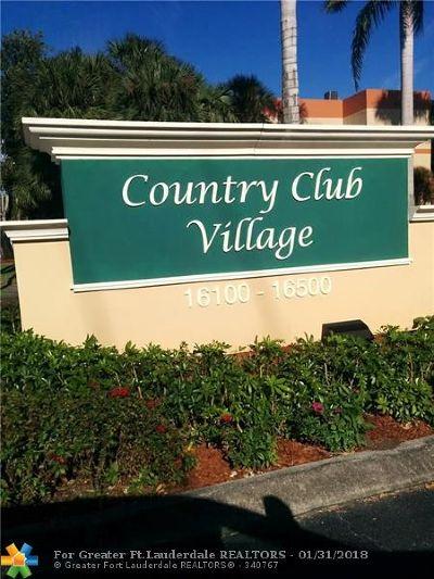 Weston Condo/Townhouse For Sale: 16175 Golf Club Rd #112