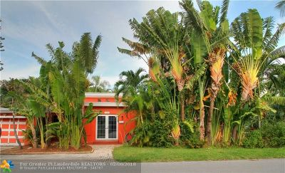 Fort Lauderdale Single Family Home For Sale: 1715 NE 11th St