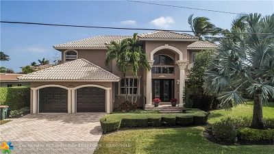 Lighthouse Point Single Family Home For Sale: 3900 NE 25th Ave