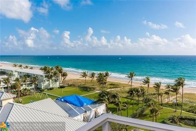 Lauderdale By The Sea Condo/Townhouse For Sale: 5200 N Ocean Blvd #808