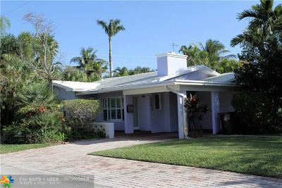 Fort Lauderdale Single Family Home For Sale: 1442 NE 16th Ave