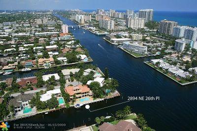 Coral Ridge Single Family Home For Sale: 2894 NE 26th Pl