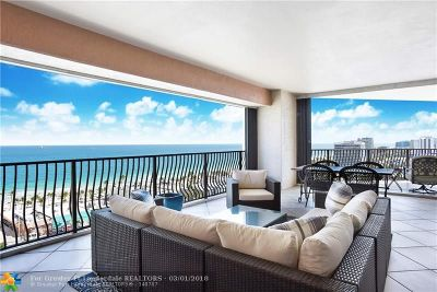 Fort Lauderdale Condo/Townhouse For Sale: 100 S Birch Rd #1601A