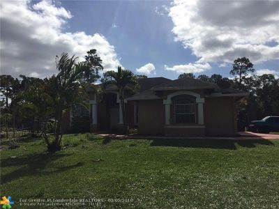 Loxahatchee Single Family Home For Sale: 14282 Temple Blvd