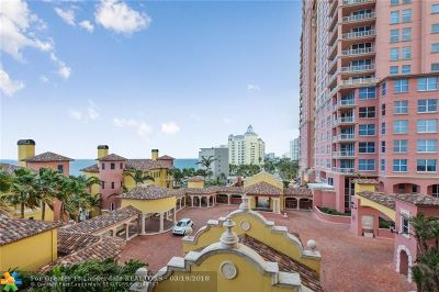 Fort Lauderdale Condo/Townhouse For Sale: 2110 N Ocean Blvd #7-A