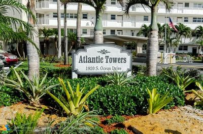 Fort Lauderdale Condo/Townhouse For Sale: 1920 S Ocean Dr #607