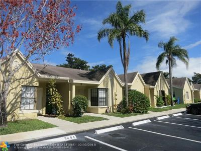 Sunrise Condo/Townhouse For Sale: 3690 NW 83rd Ln #3690