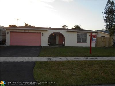 Sunrise Single Family Home For Sale: 2919 NW 120th Way